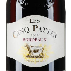 Les Cinq Pattes Bordeaux AOC Rouge