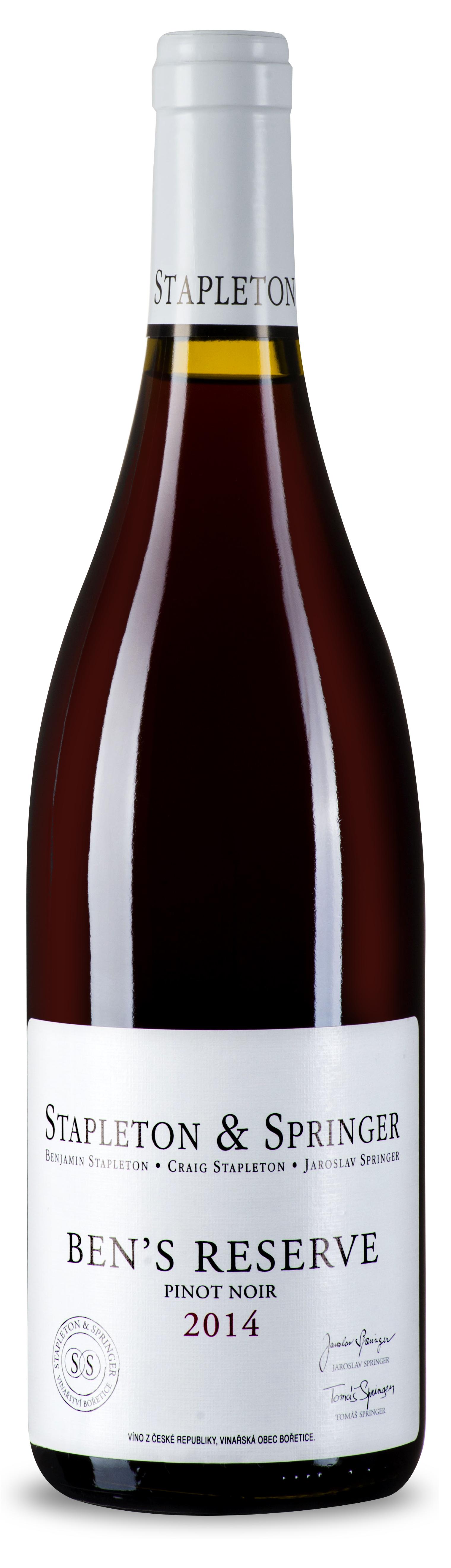 Stapleton-Springer Pinot noir Ben's reserve 2014