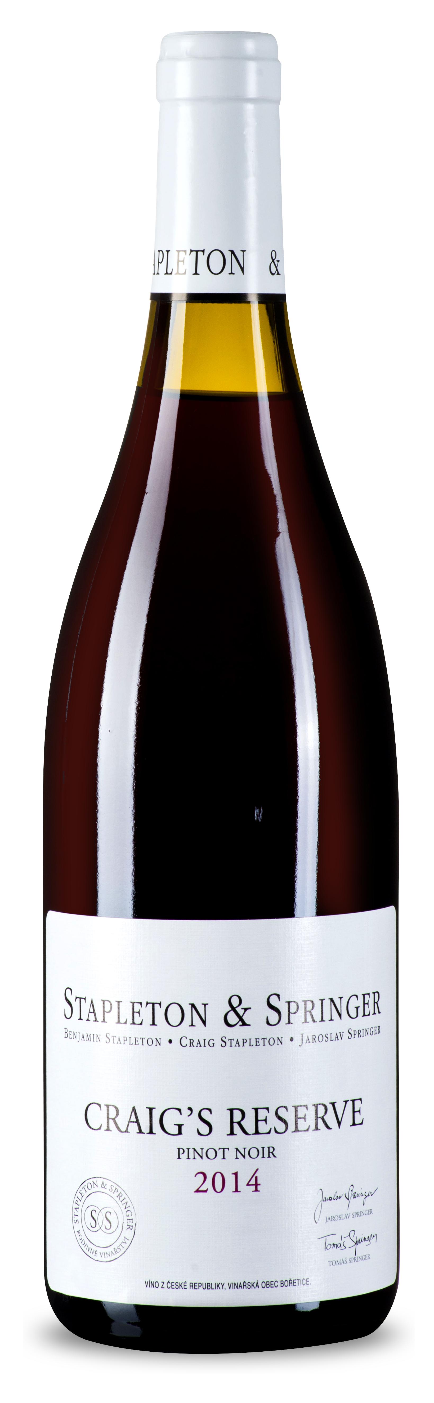 Stapleton-Springer Pinot noir Craig's reserve 2014