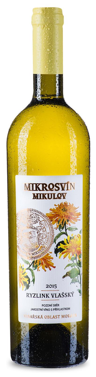 Mikrosvín Mikulov Ryzlink vlašský 2015