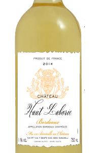 Chateau Haut Laborie Bordeaux blanc 2014 0,75l 11%
